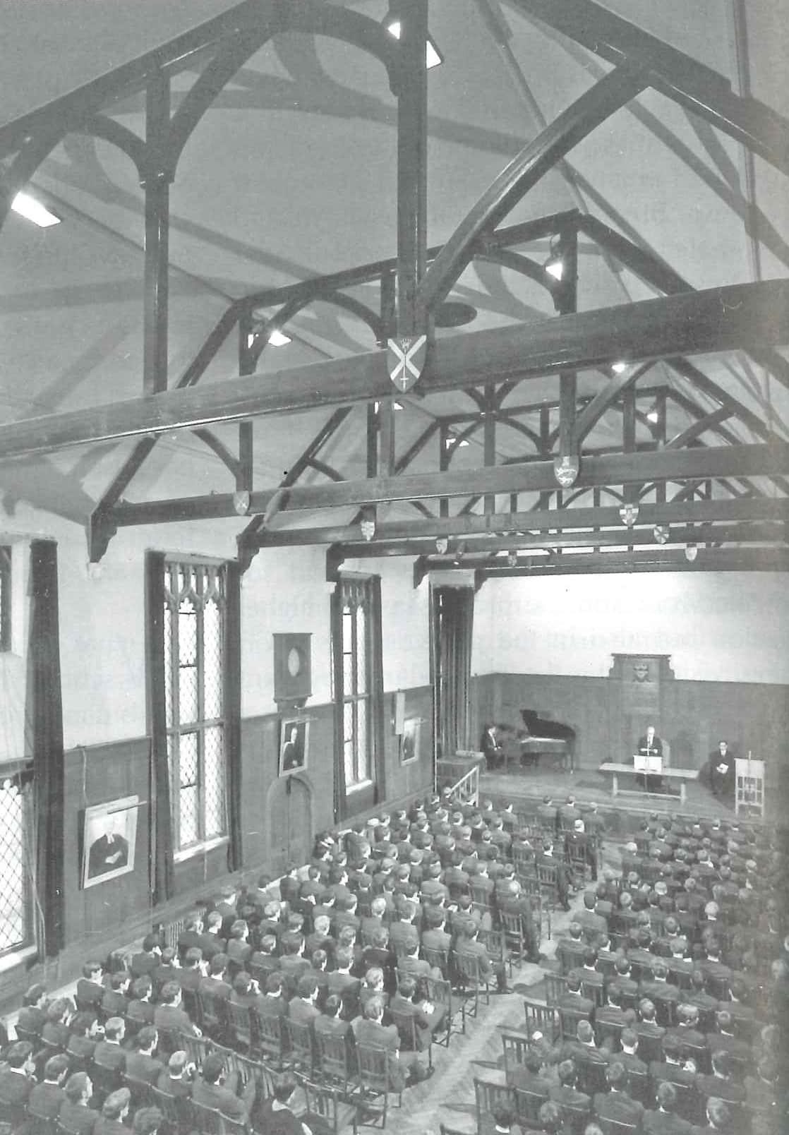 School assembly, 1969